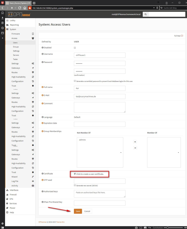 OpenVPN Server mit OPNsense - ScaryMachines