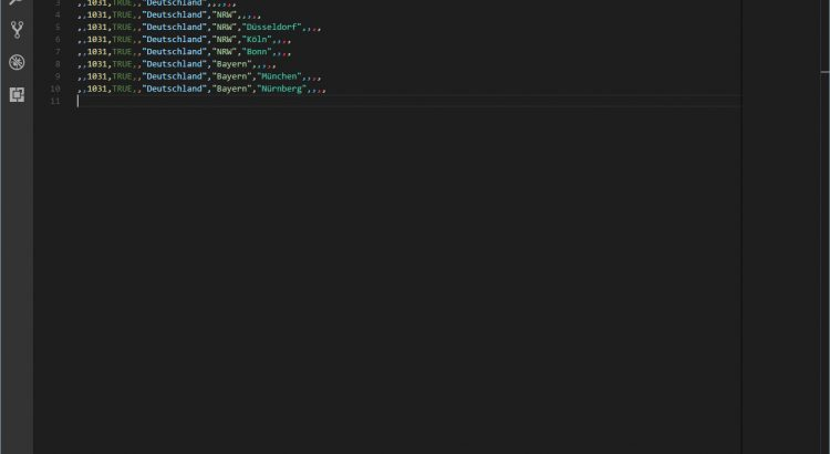 Microsoft Visual Studio Code Rainbow CSV