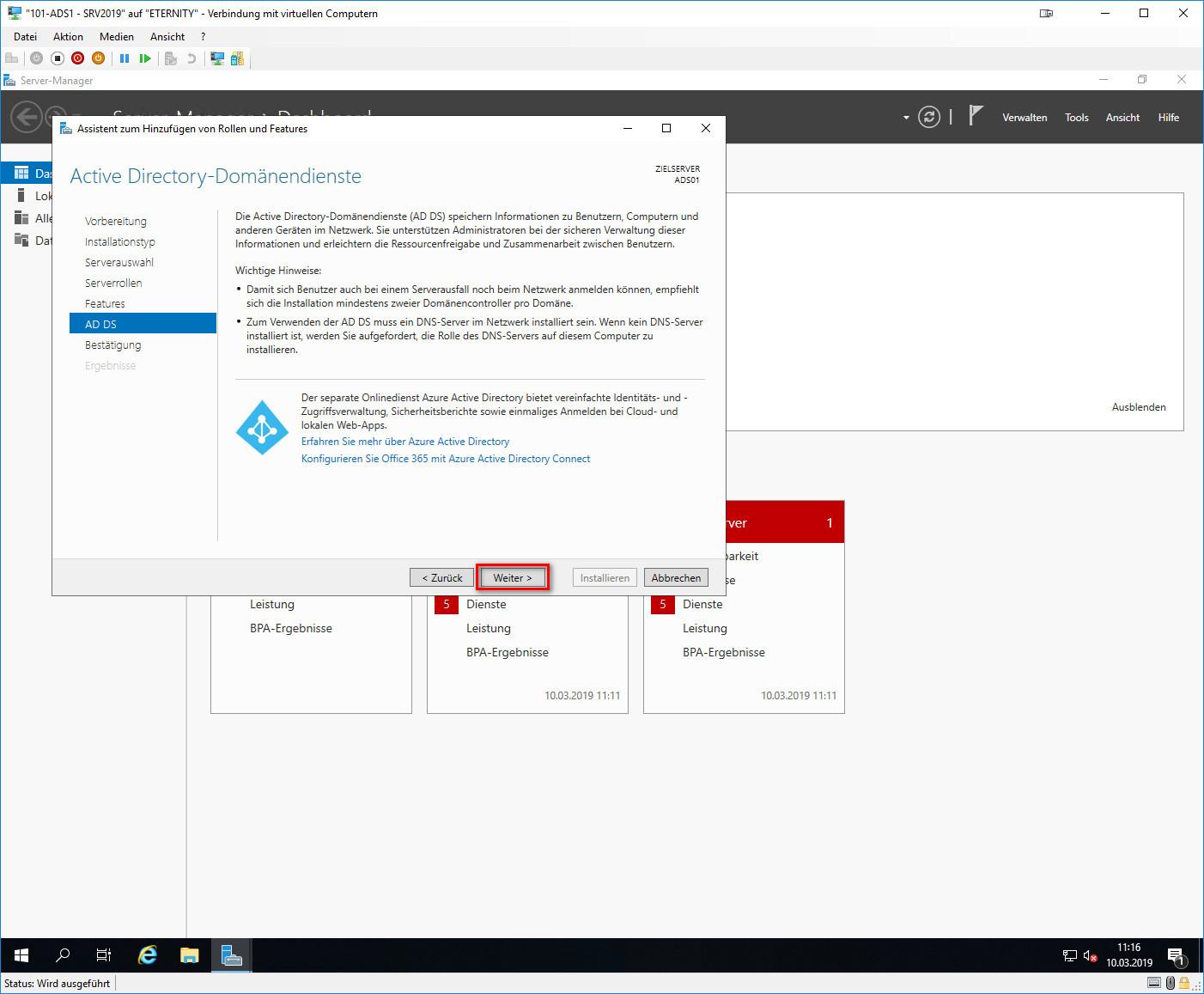 Active Directory-Domänendienste