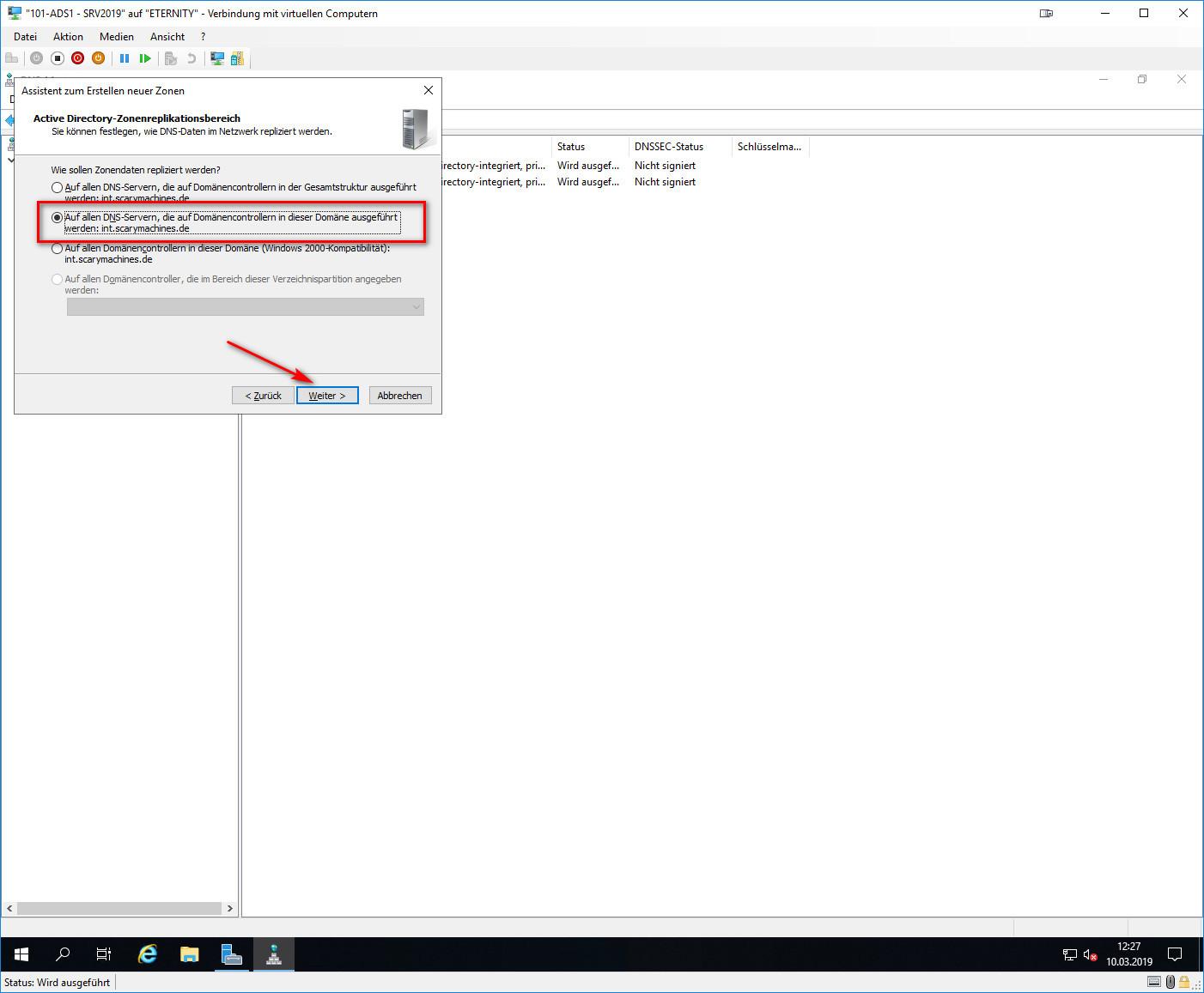 Active Directory-Zonenreplikationsbereich