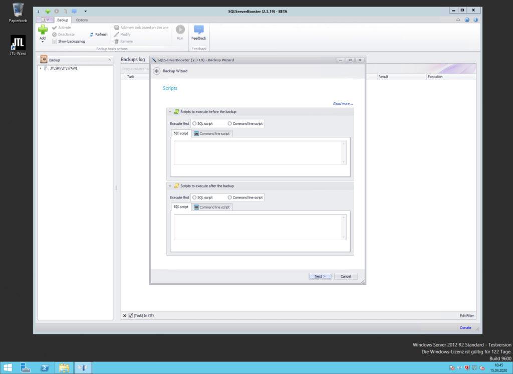 SQLServerBooster - Backup Wizard - Scripts